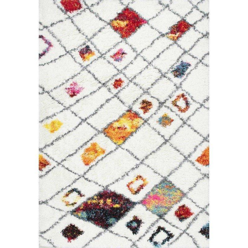 "nuLOOM Margaretta Shaggy Rug 5' 3"" x 7' 6"" Multi Rectangle (OZXS01A-53076)"