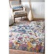 nuLOOM Margo Floral Dragon 4' x 6' Rectangle Rug in Ivory (YKNV03B-406)
