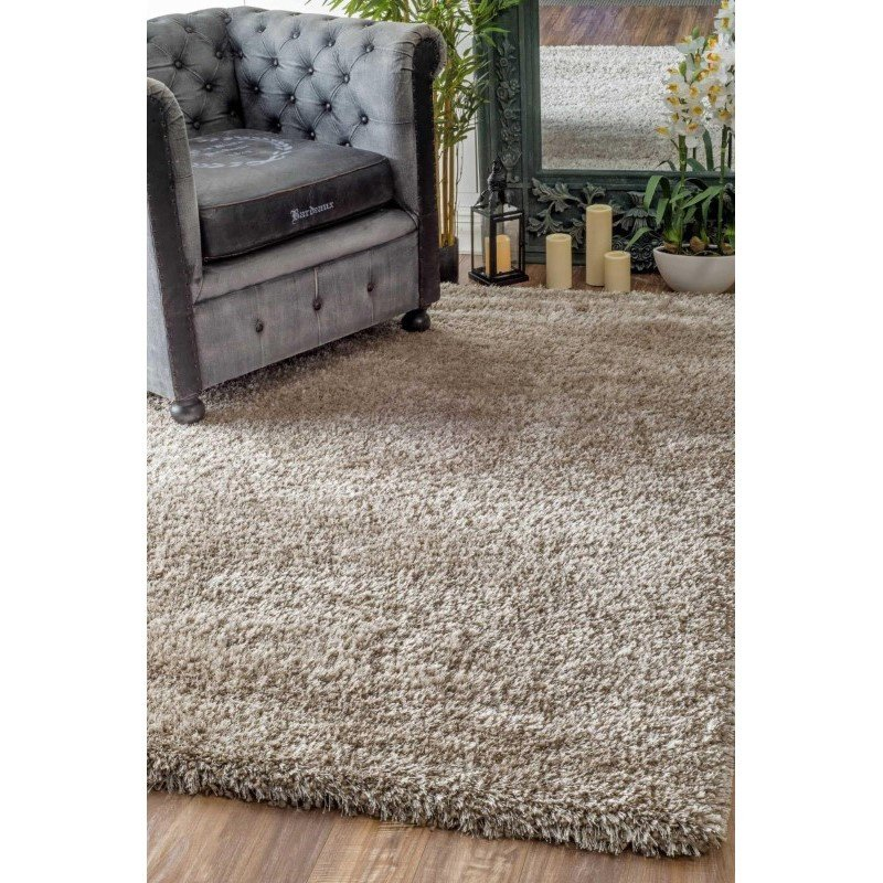 "nuLOOM Millicent Shaggy Rug 7' 10"" x 10' Taupe Rectangle (GCMS01C-710010)"