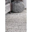 nuLOOM Natosha Indoor/Outdoor Chevron Striped 4' x 6' Rectangle Rug in Silver (VEME01A-406)