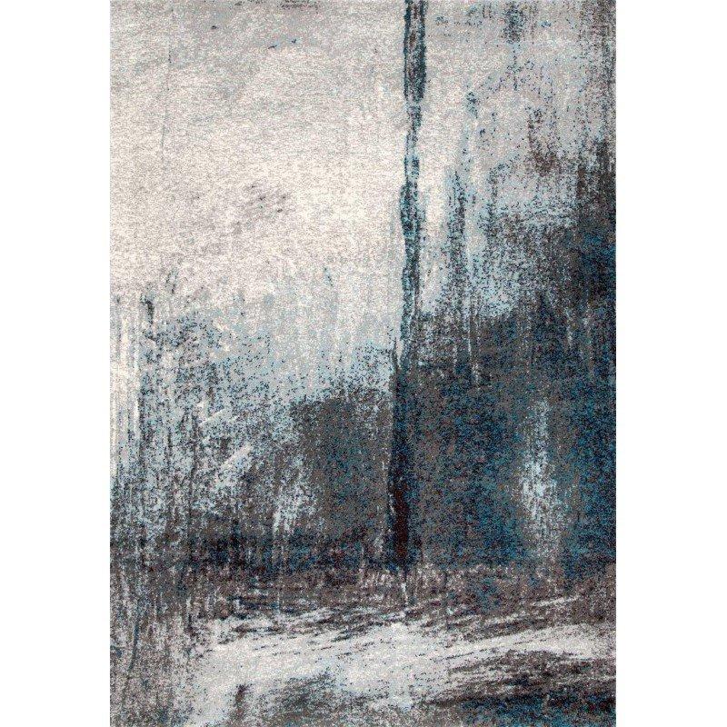 """nuLOOM Noreen Abstract Rug 4' 1"""" x 6' Grey Rectangle (ECCR21A-4106)"""