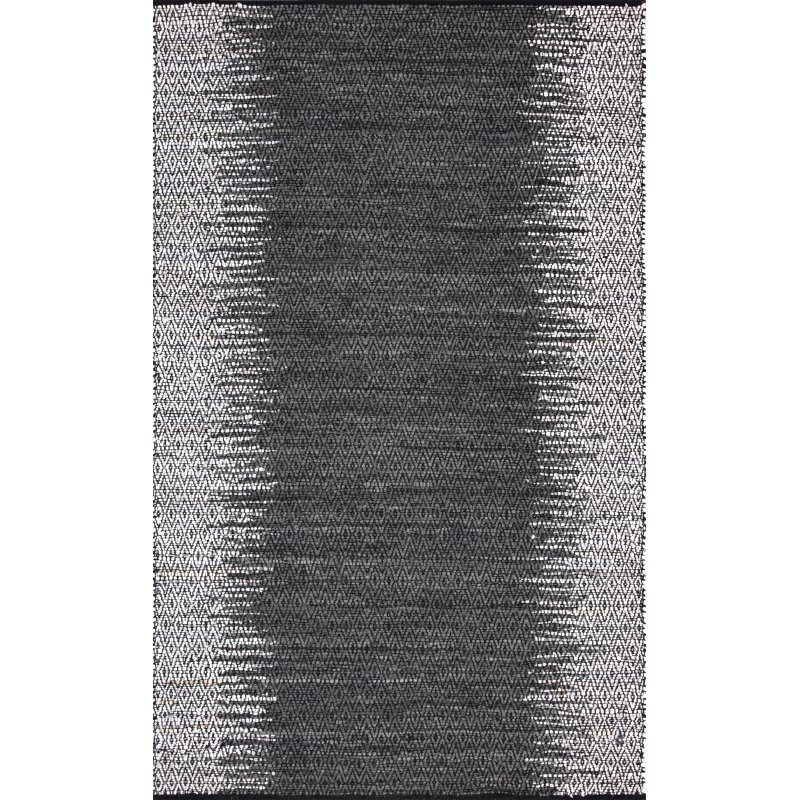 """nuLOOM Ombre Diamond Leather 7' 6"""" x 9' 6"""" Rectangle Rug in Grey (SSAP01A-76096)"""