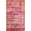 nuLOOM Rhona Vintage Border 4' x 6' Rectangle Rug in Fuchsia (YKNV02A-406)
