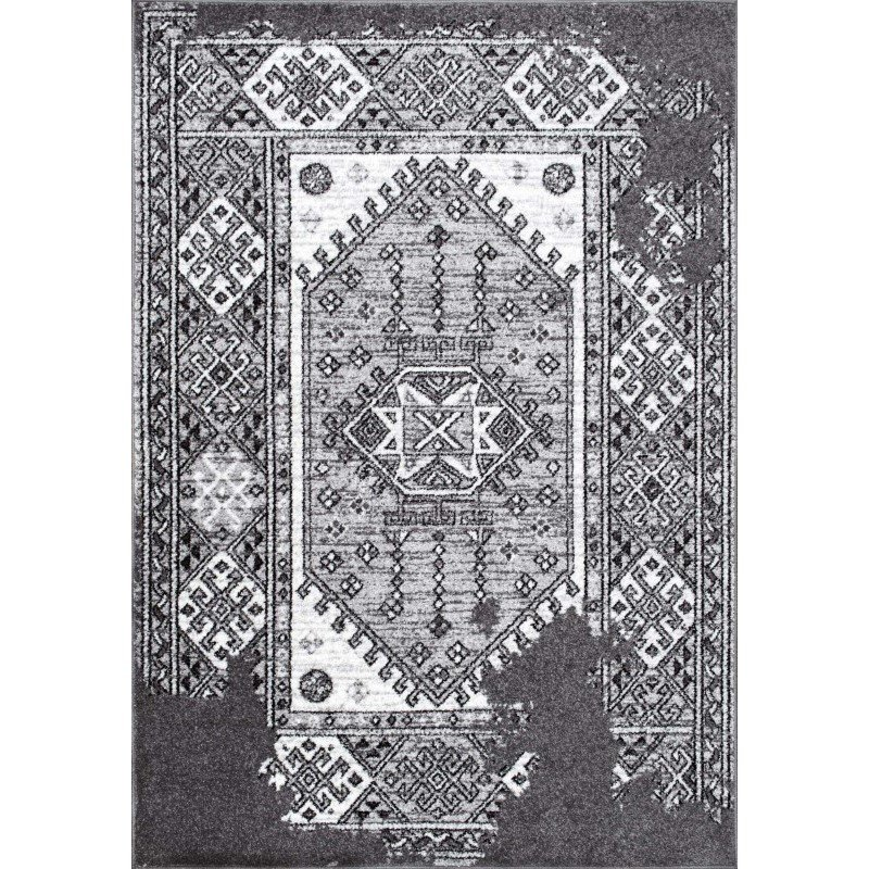 "nuLOOM Silas Vintage Tribal Rug 7' 6"" x 9' 6"" Grey Rectangle (BDSM10A-76096)"