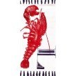 nuLOOM Thomas Paul Flatweave Lobster Tassel 4' x 6' Rectangle Rug in Red (TATP15A-406)