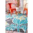 nuLOOM Thomas Paul Outdoor Hand Hooked Tulip Rug 5' x 8' Blue Rectangle (HJTP01A-508)
