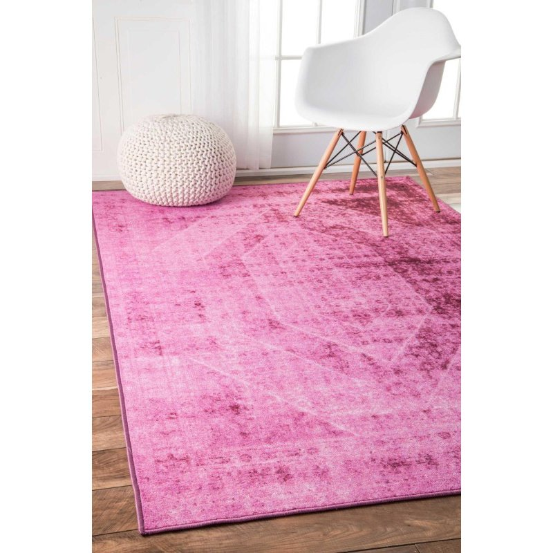 "nuLOOM Timika Vintage Inspired Overdyed Rug 5' 5"" x 8' 2"" Pink Rectangle (DIRE7B-508)"