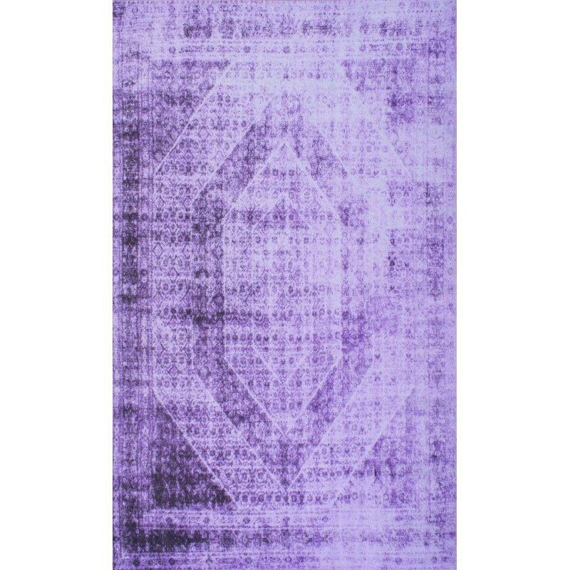 """nuLOOM Timika Vintage Inspired Overdyed Rug 8' 2"""" x 9' 10"""" Purple Rectangle (DIRE7C-8010)"""