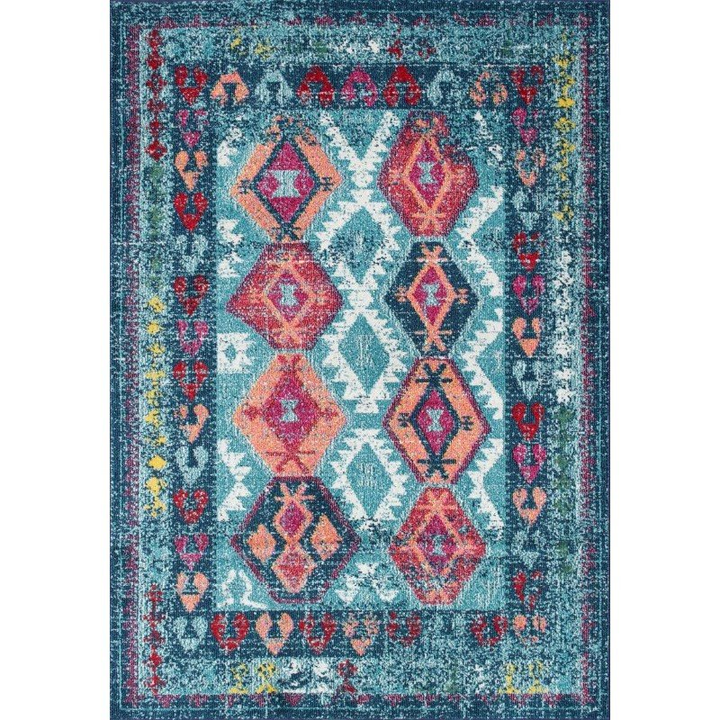 nuLOOM Tribal Mayola Rug 5' x 8' Aqua Rectangle (AHSH03B-508)