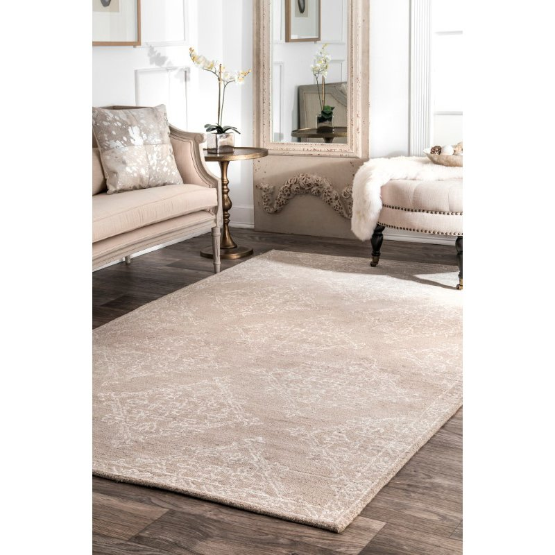 "nuLOOM Trudeau Floral 7' 6"" x 9' 6"" Rectangle Rug in Beige (RUHA01A-76096)"