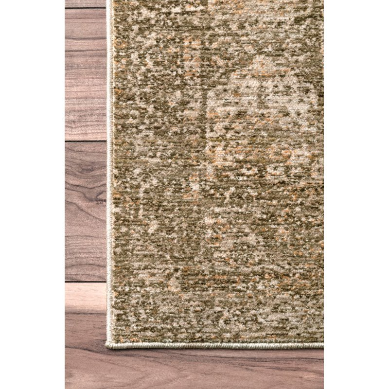 nuLOOM Vintage Aubrey Medallion 5' x 8' Rectangle Rug in Sage (STCV11C-508)