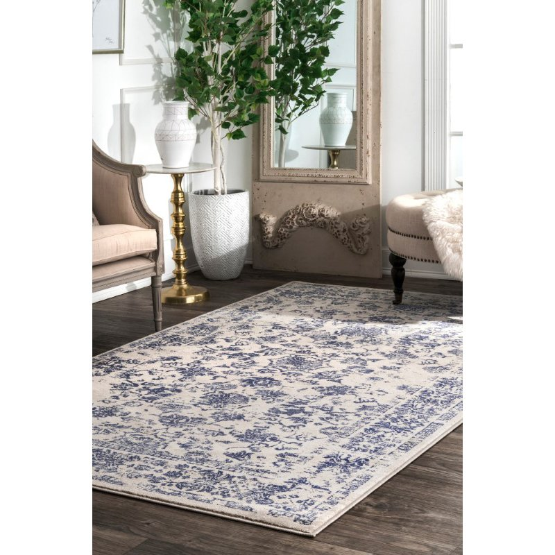 "nuLOOM Vintage Becki 6' 7"" x 9' Rectangle Rug in Blue (YKMM05A-6709)"