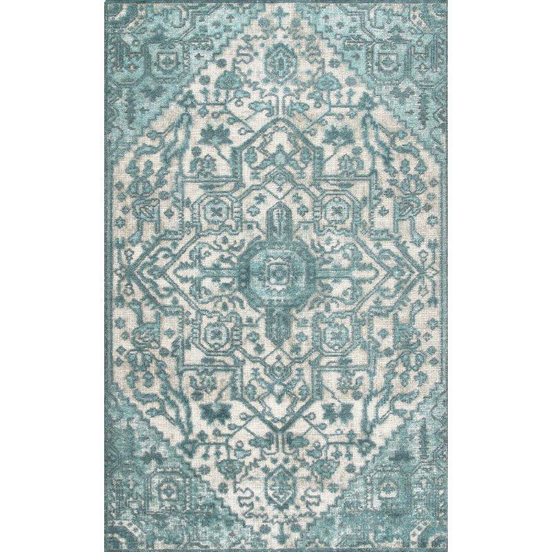 nuLOOM Vintage Gwyneth Serapi 4' x 6' Rectangle Rug in Light Blue (RDFB01B-406)