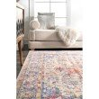 nuLOOM Vintage Isabelle 8' x 10' Rectangle Rug in Blue (PSJE09A-8010)