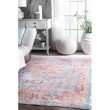 "nuLOOM Vintage Obryan 4' 3"" x 6' 6"" Rectangle Rug in Light Grey (PSJE04B-43066)"