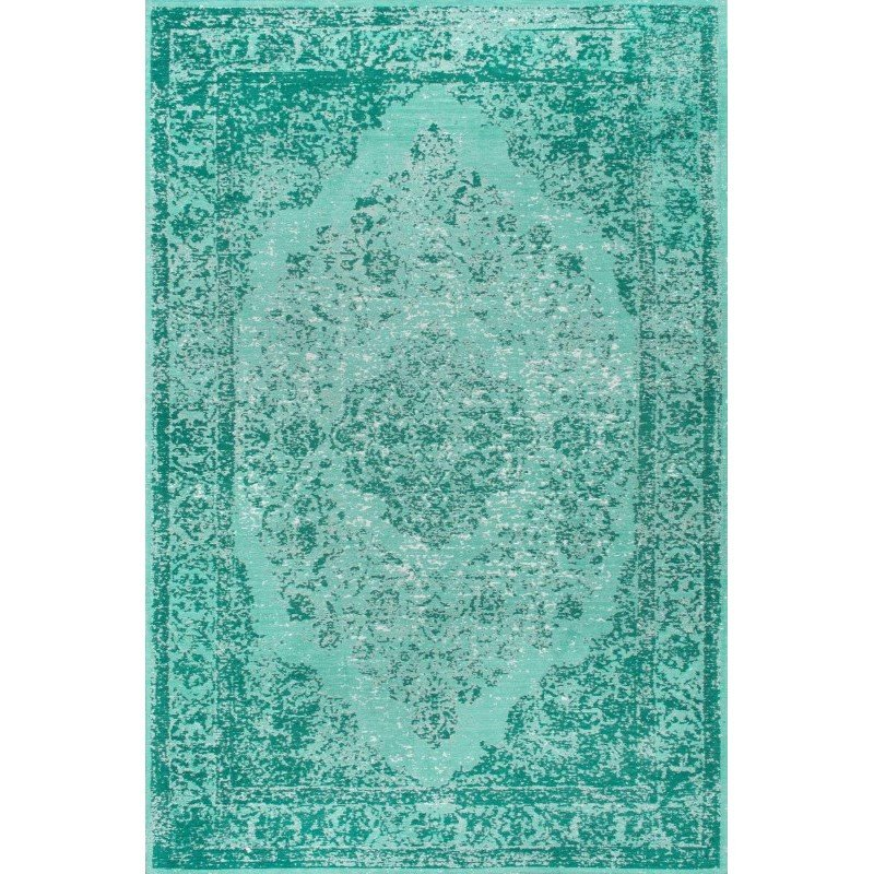 nuLOOM Vintage Renay Floral Rug 4' x 6' Blue Rectangle (ALCD01C-406)