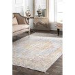 "nuLOOM Vintage Valerie 5' 6"" x 8' 3"" Rectangle Rug in Silver (PSJE05A-56083)"