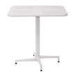 "Office Star Products Albany 30"" Square folding Table with White Finish"