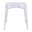 Office Star Products Bristow Antique Metal Table in Antique White (KD)