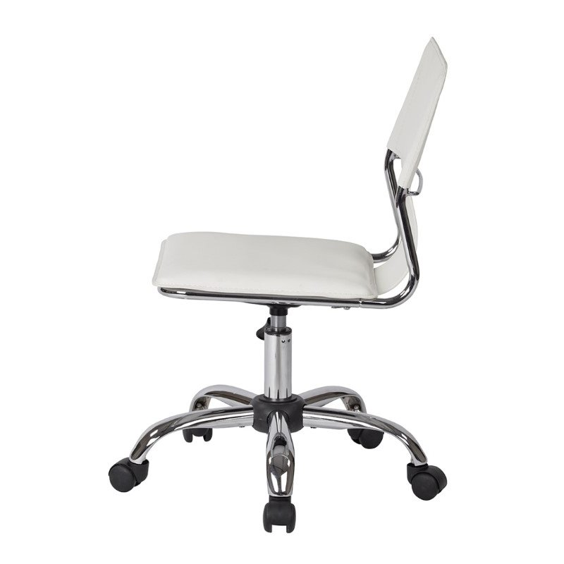 Office Star Products Carina Task Chair in White Vinyl