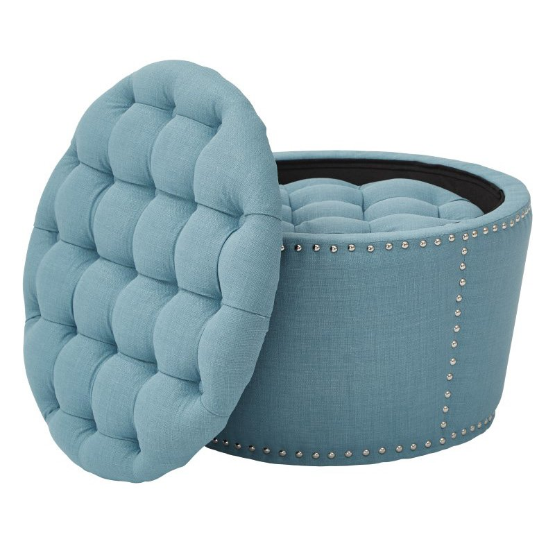 Office Star Products Lacey Tufted Storage Set in Milford Capri