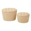 Office Star Products Lacey Tufted Storage Set in Milford Maize