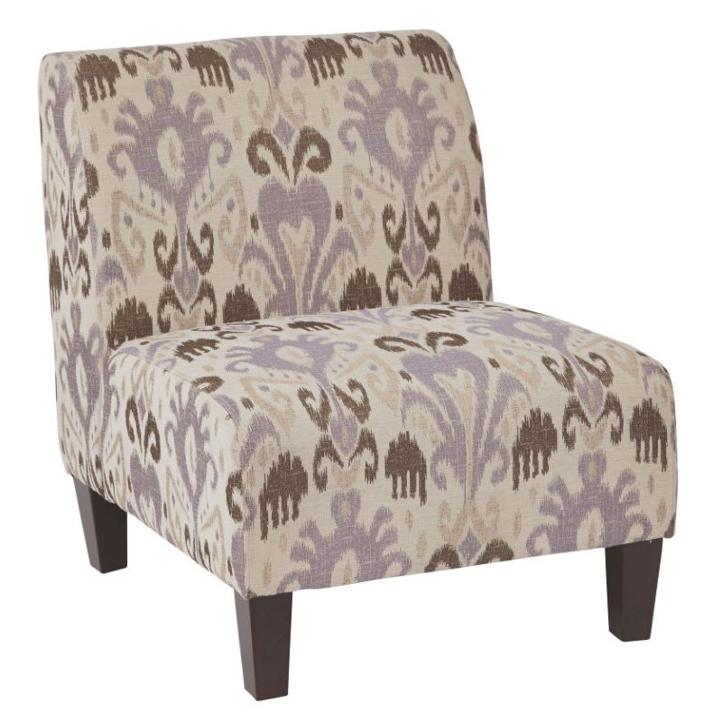 Office Star Products Magnolia Chair in Arizona Lavender