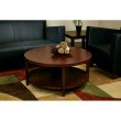 """Office Star Products Merge 36"""" Round Coffee Table in Mahogany"""