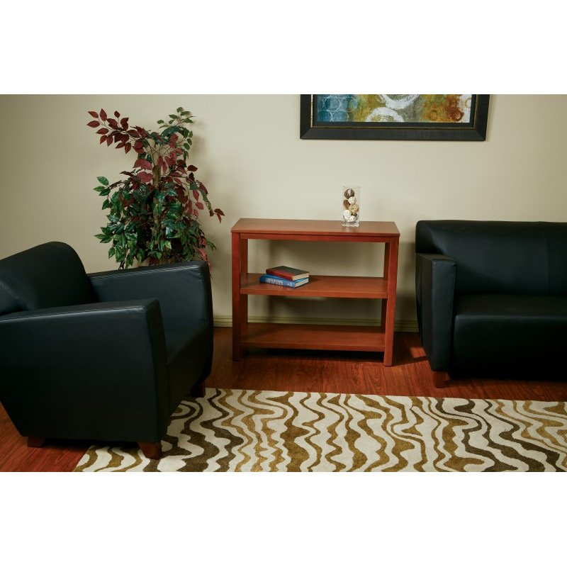 Office Star Products Merge Foyer Table in Cherry
