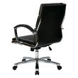 Office Star Products Mid Back Executive Black Faux Leather Chair