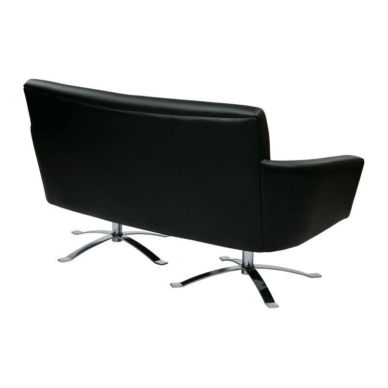 Office Star Products Nova Loveseat in Black