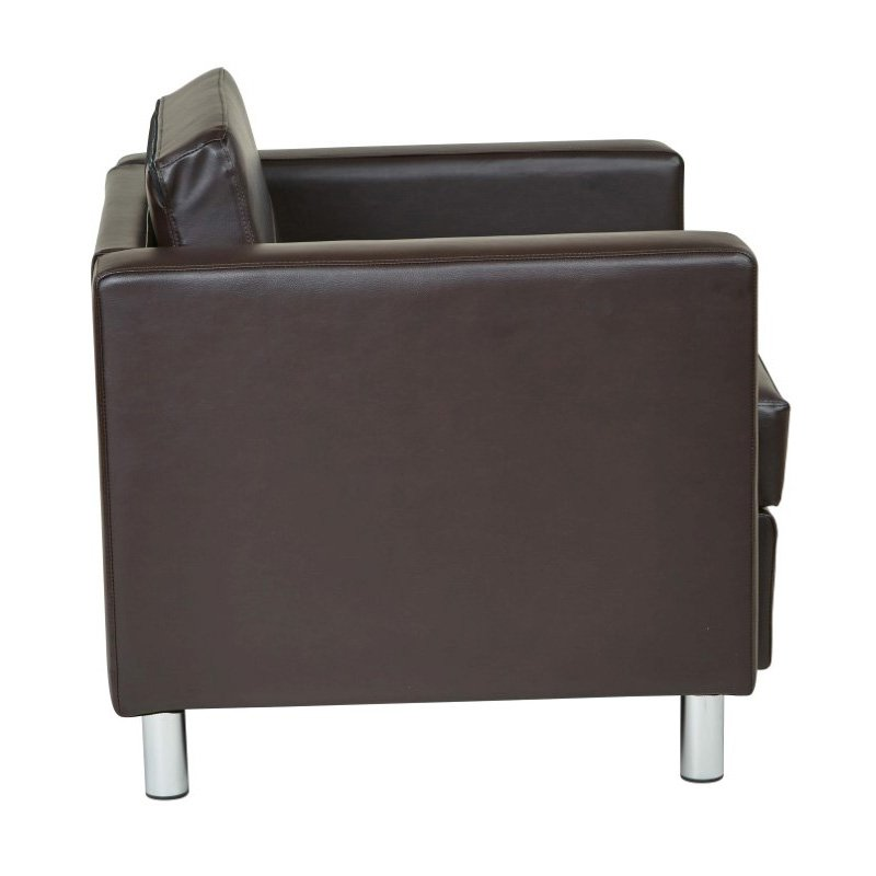 Office Star Products Pacific Arm chair in Espresso