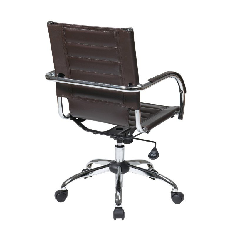 Office Star Products Trinidad Office Chair in Espresso