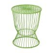 OSP Designs 130 Steel Accent Table In Green Finish