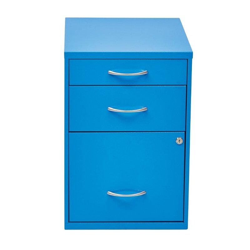 "OSP Designs 22"" Pencil' Box' Storage File Cabinet in Blue Finish"