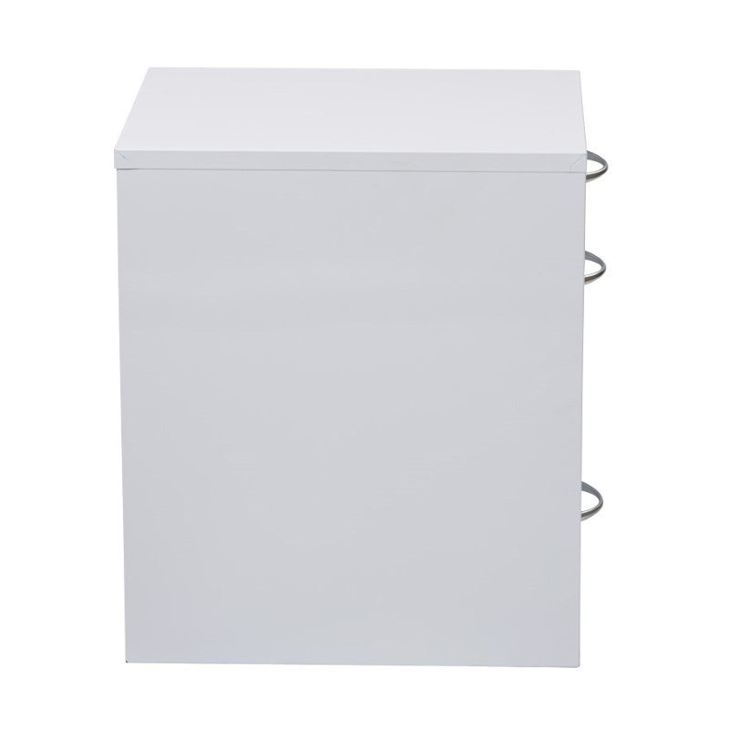 """OSP Designs 22"""" Pencil' Box' Storage File Cabinet in White Finish"""
