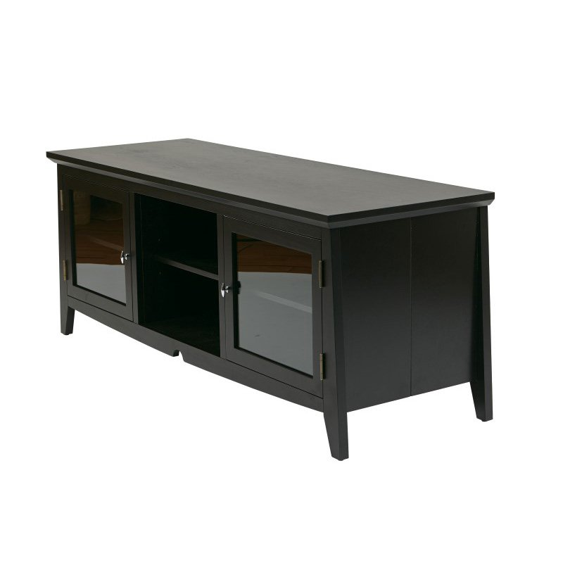 """OSP Designs 60"""" TV Stand in Black"""