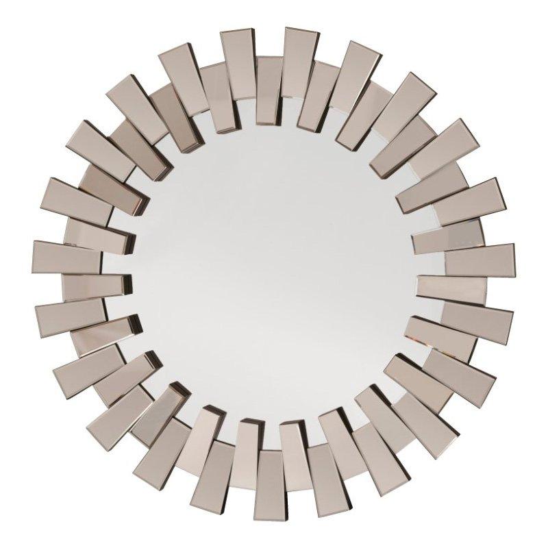 OSP Designs Apollo Glass Round Deco Wall Mirror