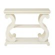 OSP Designs Ashland Console Table in Antique Beige Finish