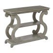 OSP Designs Ashland Console Table in Antique Grey Finish
