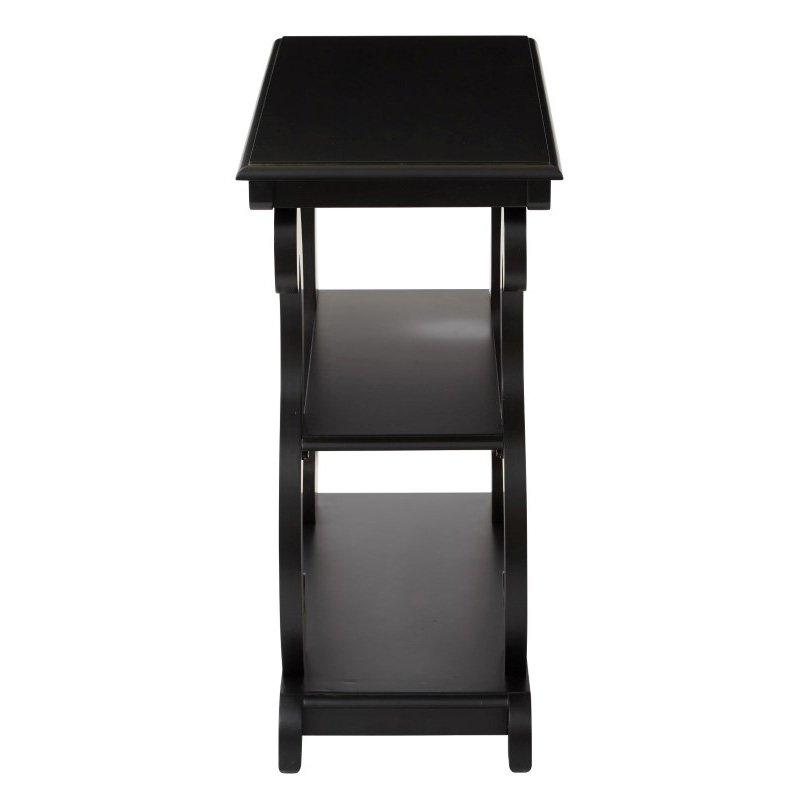 OSP Designs Ashland Console Table in Brushed Black Finish