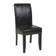 OSP Designs Bonded Leather Parsons Chair in Espresso