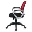 OSP Designs Bridgeport Office Chair in Red