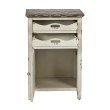 OSP Designs Charlotte Chair Side Table in Country Cottage Finish