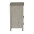 OSP Designs Charlotte Chair Side Table in Grey Finish
