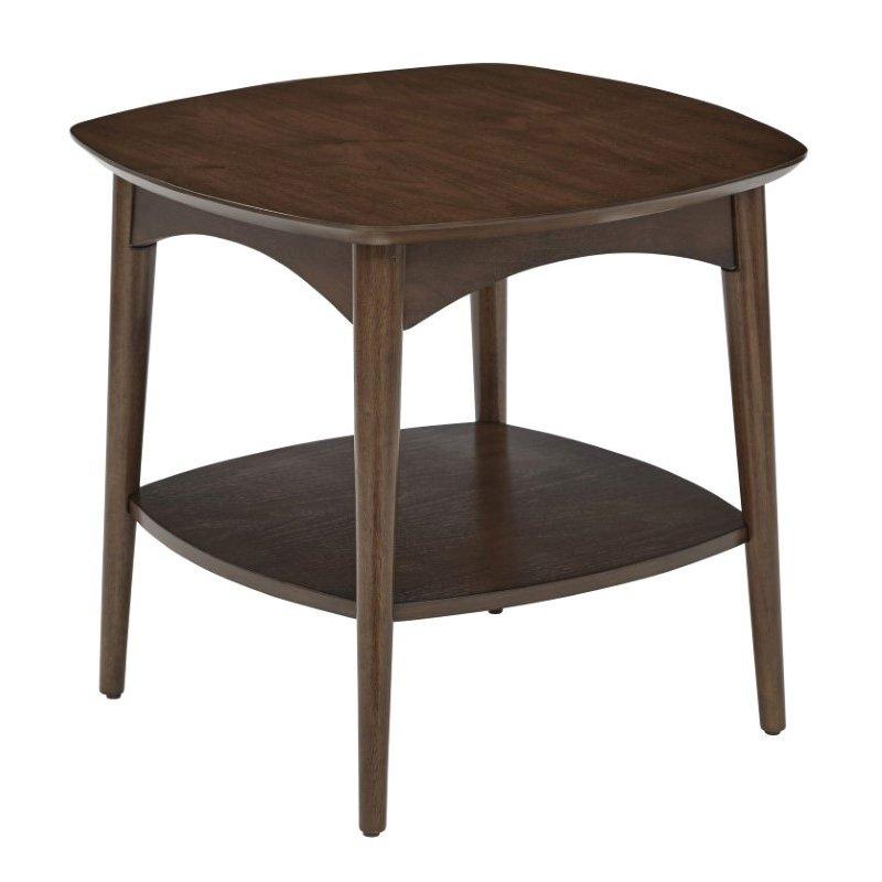 OSP Designs Copenhagen Accent Table in Walnut Finish