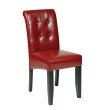 OSP Designs Crimson Red Bonded Leather Parsons Chair in Crimson Red