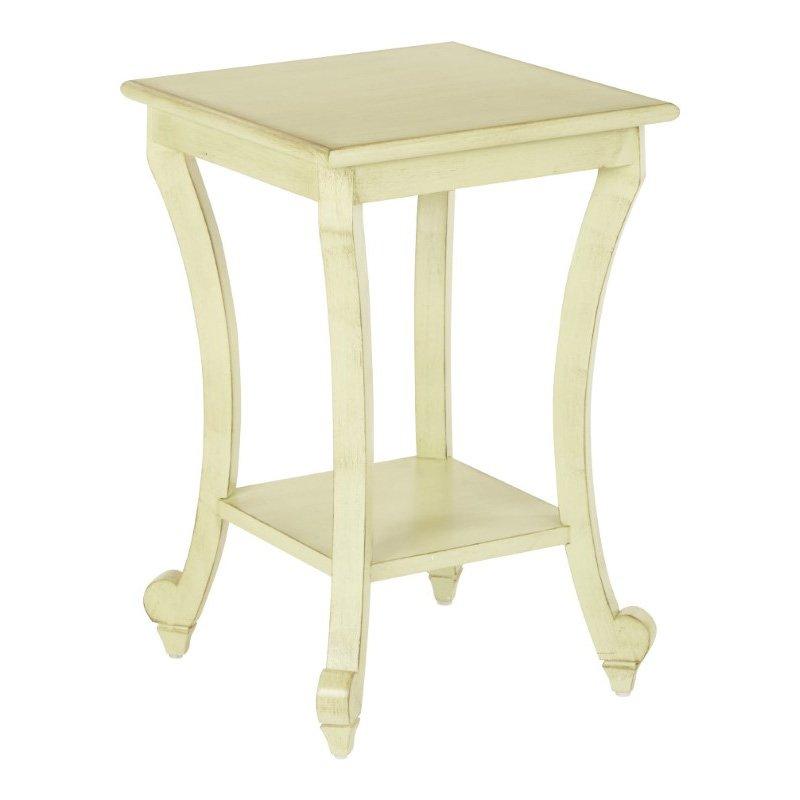 OSP Designs Daren Accent Table in Antique Celadon Finish