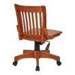 OSP Designs Deluxe Armless Wood Bankers Chair with Wood Seat in Fruit Wood Finish