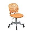 OSP Designs Designer Task Chair in Orange Fabric and Plastic Back